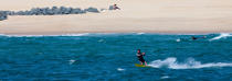Kitesurfing in Hossegor Capbreton © Philip Plisson / Pêcheur d'Images / AA29798 - Photo Galleries - Aquitaine