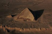 Rhomboidal pyramid called the king Snéfou in Dachour and satellite pyramid © Philip Plisson / Pêcheur d'Images / AA30075 - Photo Galleries - Egypt from above