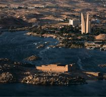 The Temple of Kalabsha near the Aswan Dam [AT] © Philip Plisson / Pêcheur d'Images / AA30311 - Photo Galleries - Egypt from above