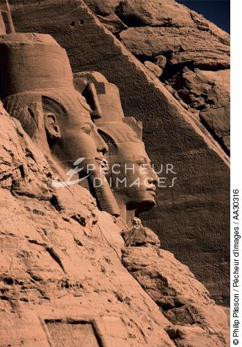le temple d'Abou Simbel - © Philip Plisson / Pêcheur d'Images / AA30316 - Nos reportages photos - Site [Egypte]