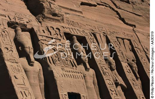 le temple d'Abou Simbel - © Philip Plisson / Pêcheur d'Images / AA30319 - Nos reportages photos - Site [Egypte]