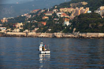 Fishing in front of Cap d'Ail © Philip Plisson / Pêcheur d'Images / AA32140 - Photo Galleries - From La Napoule to Menton