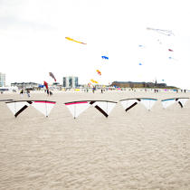 International Meetings of kites in Berck sur Mer [AT] © Philip Plisson / Pêcheur d'Images / AA32446 - Photo Galleries - Nord-Pas-de-Calais