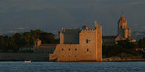 The abbey of Lerins Saint-Honorat [AT] © Philip Plisson / Pêcheur d'Images / AA32485 - Photo Galleries - From La Napoule to Menton