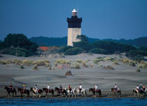 Lighthouse Espiguette in Camargue © Philip Plisson / Pêcheur d'Images / AA32505 - Photo Galleries - From Sète to Martigues