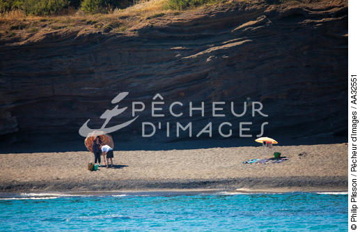 Beach at Cap d'Agde - © Philip Plisson / Pêcheur d'Images / AA32551 - Photo Galleries - From Cerbère to Adge