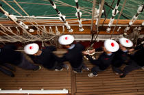The School of foam aboard the Belem [AT] © Philip Plisson / Pêcheur d'Images / AA32607 - Photo Galleries - Maritim school aboard Belem tallship