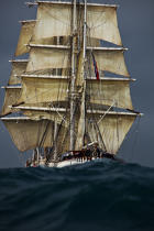 The Belem between Groix and Belle-Ile [AT] © Philip Plisson / Pêcheur d'Images / AA32772 - Photo Galleries - Maritim school aboard Belem tallship