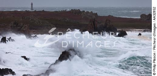 The storm Joachim on the Brittany coast. [AT] - © Philip Plisson / Pêcheur d'Images / AA32852 - Photo Galleries - Winters storms on Brittany coasts