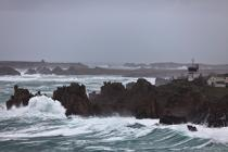 The storm Joachim on the Brittany coast. [AT] © Philip Plisson / Pêcheur d'Images / AA32857 - Photo Galleries - Island [29]