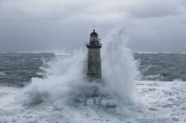 The storm Joachim on the Brittany coast. [AT] © Philip Plisson / Pêcheur d'Images / AA32865 - Photo Galleries - Winters storms on Brittany coasts