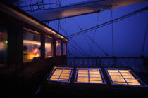 Aboard the Belem © Philip Plisson / Pêcheur d'Images / AA35522 - Photo Galleries - Night