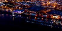 The port of Lorient by night © Philip Plisson / Pêcheur d'Images / AA35909 - Photo Galleries - Night