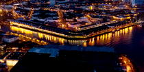 The port of Lorient by night © Philip Plisson / Pêcheur d'Images / AA35910 - Photo Galleries - Night