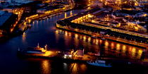 The port of Lorient by night © Philip Plisson / Pêcheur d'Images / AA35911 - Photo Galleries - Night