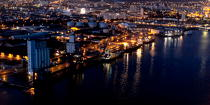 The port of Lorient by night © Philip Plisson / Pêcheur d'Images / AA35912 - Photo Galleries - Night