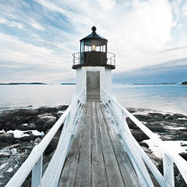 Marshal Point lighhouse © Philip Plisson / Pêcheur d'Images / AA36588 - Photo Galleries - United States [The]