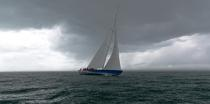 12 meters Ji France in a squall © Philip Plisson / Pêcheur d'Images / AA36732 - Photo Galleries - The reborn of 12 M JI France