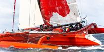 ©  / Pêcheur d'Images / AA38540 Tour de Belle-Ile 2015 - Le trimaran Sodébo - Nos reportages photos - Multicoque de course
