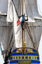 © Philip Plisson / Pêcheur d'Images / AA38651 L'Hermione at sea - Photo Galleries - Monohull