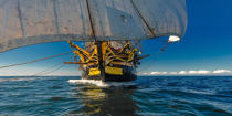 © Philip Plisson / Pêcheur d'Images / AA38675 The Hermione at sea - Photo Galleries - Monohull