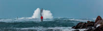 © Philip Plisson / Pêcheur d'Images / AA39415 Le Four lighthouse, 2017 Zeus storm - Photo Galleries - Maritime Signals