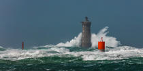 © Philip Plisson / Pêcheur d'Images / AA39416 Le Four lighthouse, 2017 Zeus storm - Photo Galleries - Maritime Signals