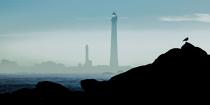 © Philip Plisson / Pêcheur d'Images / AA39588 Mist on the Ile Vierge lighthouse - Photo Galleries - Maritime Signals